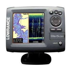 lowrance elite 5 fishfinders ebay. Black Bedroom Furniture Sets. Home Design Ideas