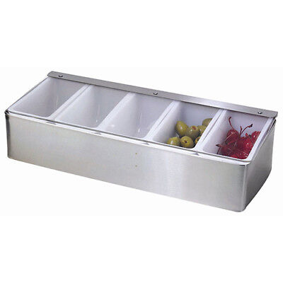 Winco Cdp-5 Condiment Traydispenser Ss Base 5 Compartment