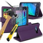 Leather Mobile Phone Wallet Cases for Samsung Galaxy J1