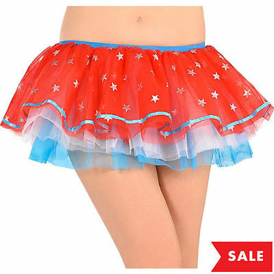 Captain America Civil War Adult Tutu Sexy Skirt Marvel Comics Brand New RED PC](Captain America Tutu Costume)