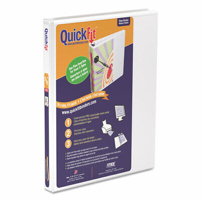 Stride Quick Fit D-Ring View 3-Ring Binder, 1/2 In. Capacity, White, EA - STW870 D-ring View Binder 2in Ring
