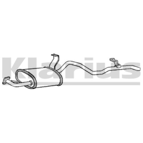 1x KLARIUS OE Quality Replacement Rear / End Silencer Exhaust For TOYOTA Diesel