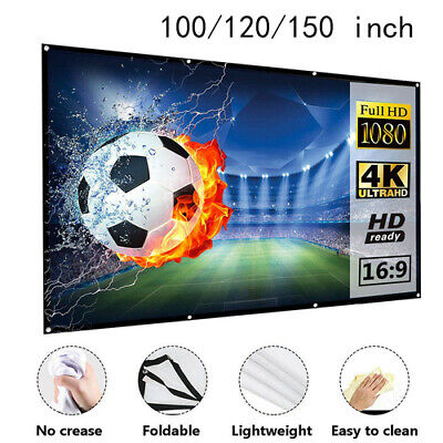 Portable Foldable Projector Screen 16:9 HD Home Theater 3D M