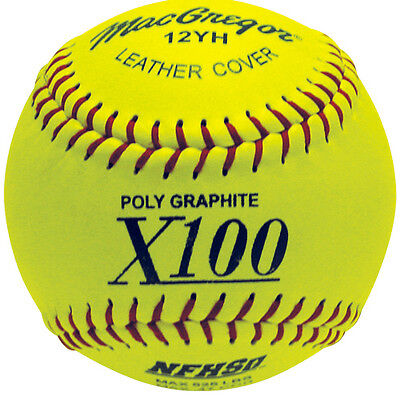 MacGregor® 12 in. NFHS Fast-Pitch Softballs (1 DOZEN)