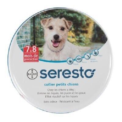 Collier antiparasitaire Seresto® pourpetit  chien inferieur a 8 kg