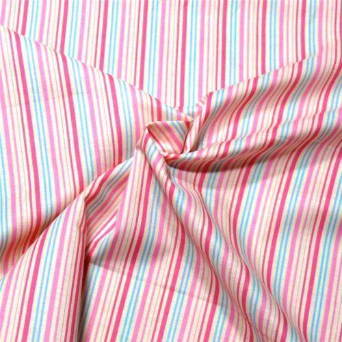 Pink White Stripe Fabric Ebay