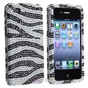 iPhone 4 Case Bling Zebra