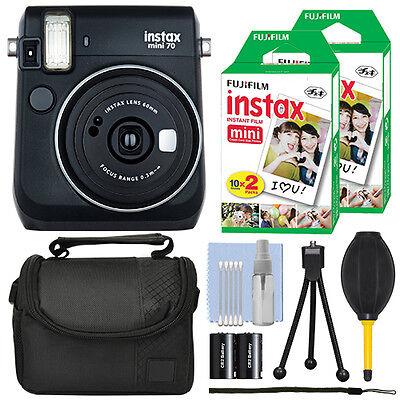 Fujifilm Instax Mini 70 Fuji Instant Film Camera Black + 40