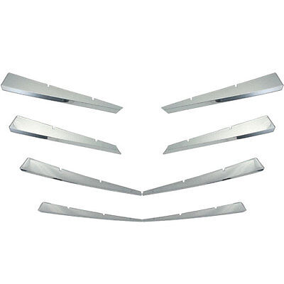 New Chrome Grill Grille Overlay for 2008 2009 2010 2011 Cadillac CTS
