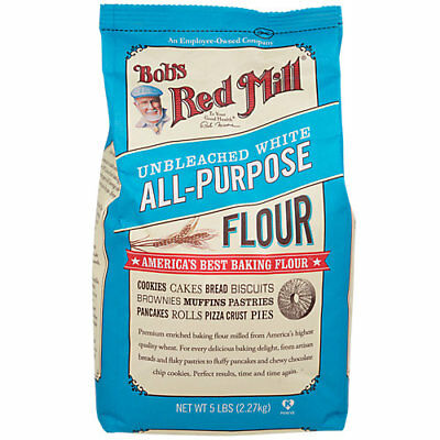 Bobs Red Mill Unbleached White All Purpose Flour - 5 Pound Flour