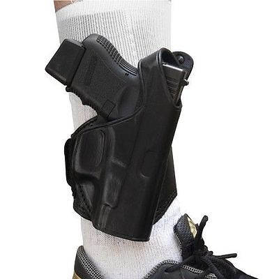 - TAGUA BLACK LEATHER RIGHT HAND ANKLE HOLSTER for GLOCK 43