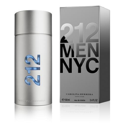 212 Cologne by Carolina Herrera, 3.4 oz EDT Spray for Men NEW