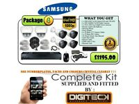 SAMSUNG SDR4200 DVR+ 4X SDC9440BU+ 2X SCD5082 1080P CCTV KIT SUPPLIED AND FITTED