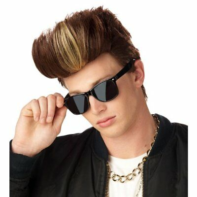 Vanilla Ice Wig 90s Rapper MC Ice Baby Adult Mens Winkle 80s Rap Hip Hop Singer](Vanilla Ice Wig)