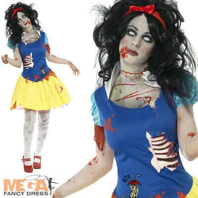 Zombie Snow White Fright Ladies Halloween Fairy Tale Horror Halloween Costume  ()