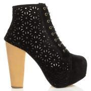 Block Heel Platform Boots