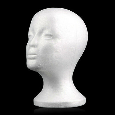 Female Head Model Wig Hair Hat Display Styrofoam Foam Mannequin Manikin Striking