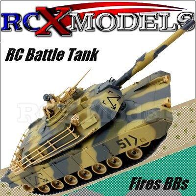 RC Tank BB Bullet Firing Gun remote Radio control Army T-90 Battle Model UK LOOK