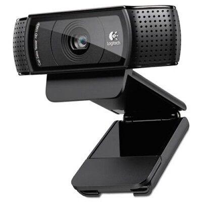 Logitech HD Pro Webcam C920, 1080p, Black (LOG960000764)