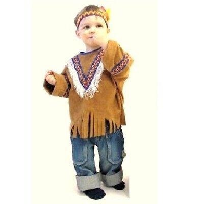 Kinder Western Kostüm (Indianer Kleine Feder Klein-Kinder-Kostüm Größe 92 98 104 Western Indianerkostüm)