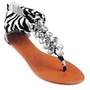 Diamonte Flip Flops