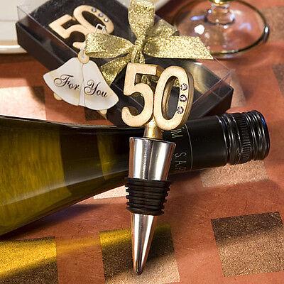 (50th Anniversary Birthday Wine Bottle Stopper Favor Wedding Drink Party Barware)