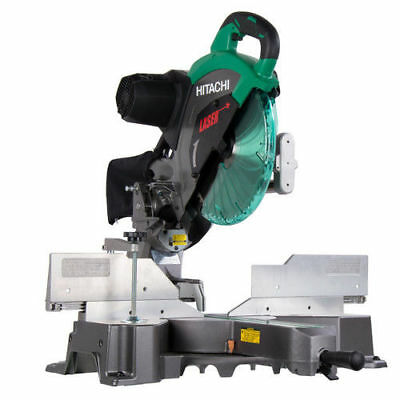 "Hitachi 15 Amp 12"" Dual Bevel Sliding Compound Miter Saw w/ Laser C12RSH2 recon"