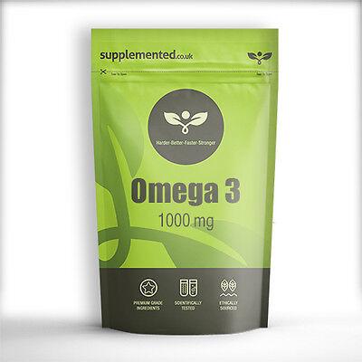 OMEGA 3 HIGH STRENGTH FISH OIL 1000MG 90 CAPSULES EPA DHA