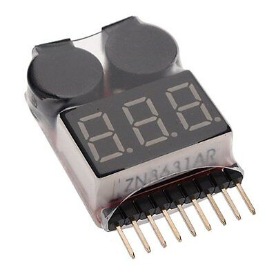 Lipo Battery Low Voltage Tester VOLTMETRE monitor Buzzer alarm indicator AD