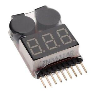 Lipo Battery Low Voltage Tester VOLTMETRE monitor Buzzer alarm indicator AD