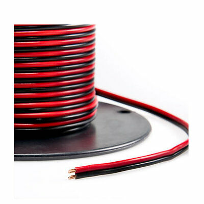 Red/Black Bonded Zip Cord Easy ID Low Voltage Cable (Gauge: 12, Length: 25 feet)