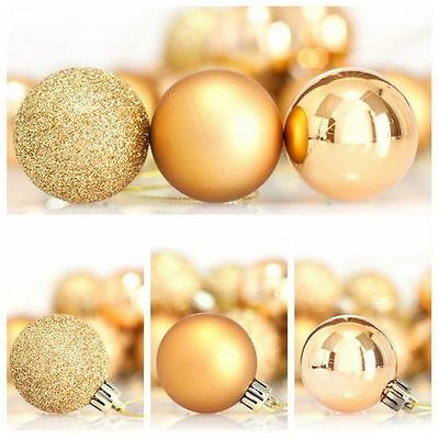 Christmas Tree Ball Ornaments Red Gold Silver Glitter and Matte 4cm diameter New