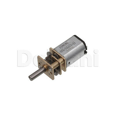 Dc Gear Motor High Torque 12ga 6v 100rpm Exposed Gears For Diy Robotics Arduino