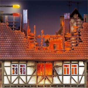 Busch Burning Building Light Effect 5921 Ho Scale Suit Oo Also