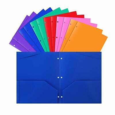 Plastic Pocket Folders With 3 Holeheavy Duty Star Foldersassorted Colorspack