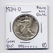 Walking Liberty Half Dollar Gem BU