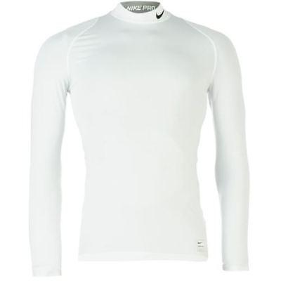 Nike Pro Core Mock Neck T Shirt Mens Compression Gym White SIZE XXL R512-6