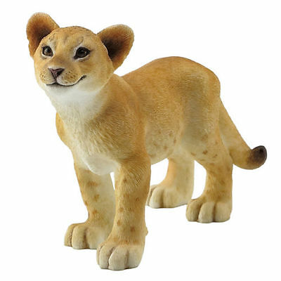 "5.5"" Lion Cub Statue Collectible Wild Cat Animal Figurine Sculpture"