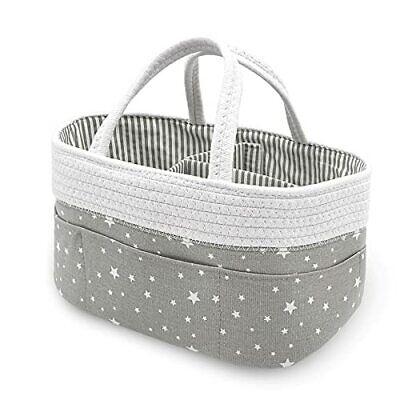 Cotton Rope Baby Diaper Caddy Organizer Nursery Storage Bin Diaper Stacker Ca...