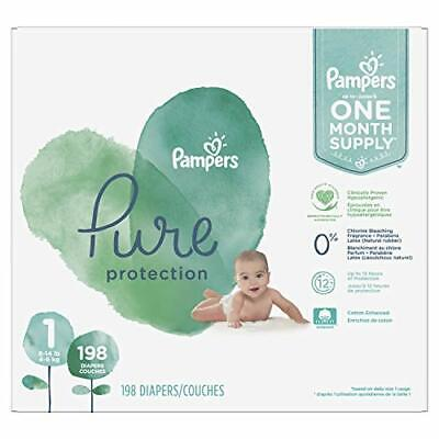 Diapers Size 1, 198 Count - Pampers Pure Protection Disposable Diapers 🔱