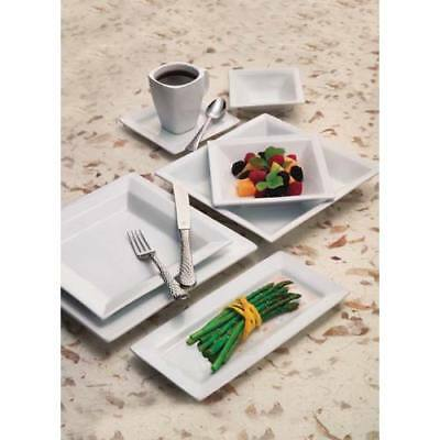 World Tableware Sl-6 Slate Dinnerware - Square Plate 6-14 White