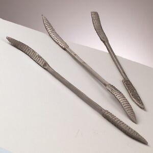 Speckstein Werkzeuge Raspel / Feilen Set 3-teilig, Länge 20 cm