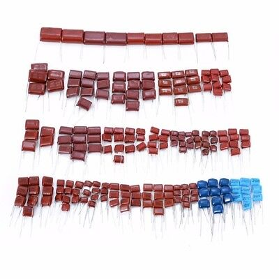 200pcs 630v 25 Values 0.001uf2.2uf Cbb Metal Film Capacitors Assortment Kit