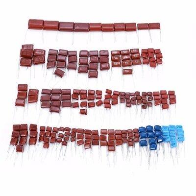 200pcs 630v 25 Values 0.001uf2.2uf Cbb Metal Film Capacitors Assortment Kit