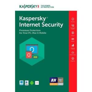 Kaspersky Internet Security 2018 Key Online 365 Days 1 Year 1 User Authorized Reseller
