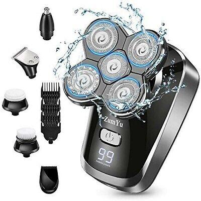 Afeitadora Electrica Hombre, 6 en 1 Maquina De Afeitar Calva Recortadora Barba...