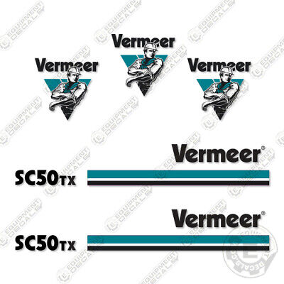 Vermeer Sc 50 Tx Stump Grinder Decal Kit