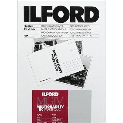 "Ilford Multigrade IV RC Portfolio Postcard Paper 4x6"" Pearl 100 Sheet (856084)"