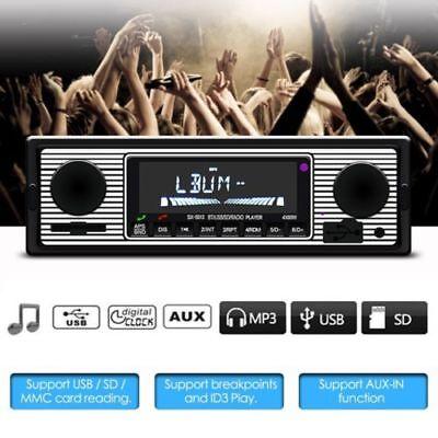 Retro Bluetooth Car Autoradio 1 DIN MP3/USB/SD/AUX-IN FM Radio Player Indash DHL