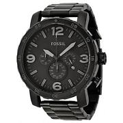 Mens Black Fossil Watch